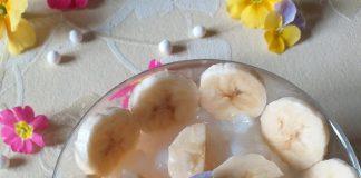 Pudding di maxi perle di tapioca e banana