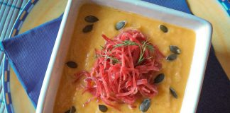 Crema di finocchi e carote con bresaola
